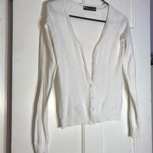 ZARA Knit Button Up Sweater